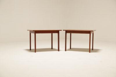 Vintage Pair of France & Daverkosen Style Teak Side Tables