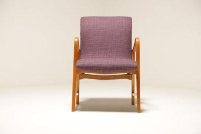 Vintage Swedish Purple Tweed Armchair