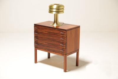 Vintage Hans Agne Jakobsson Model BN26 1950s Brass Beehive Table Lamp