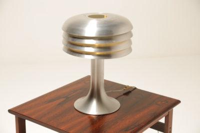 Vintage Hans Agne Jakobsson Model BN26 Aluminum 1950s Beehive Table Lamp
