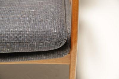 Vintage Marine Tweed Bovenkamp Teak Armchair by Aksel Bender Madsen