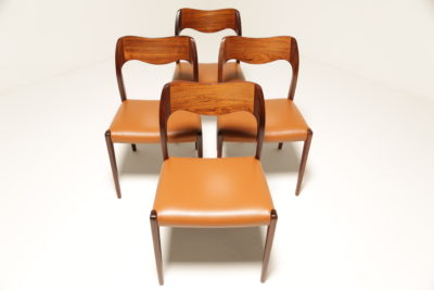 Vintage Rosewood Niels Moller Model 71 Dining Chairs
