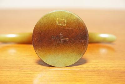 "Vintage Pair of Swedish Lily ""Liljan"" Bronze Candlesticks by Ivar Alenius Bjork"