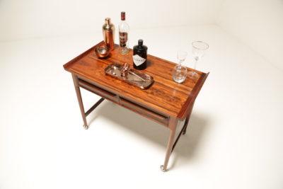 Vintage Danish Rosewood Bar Cart