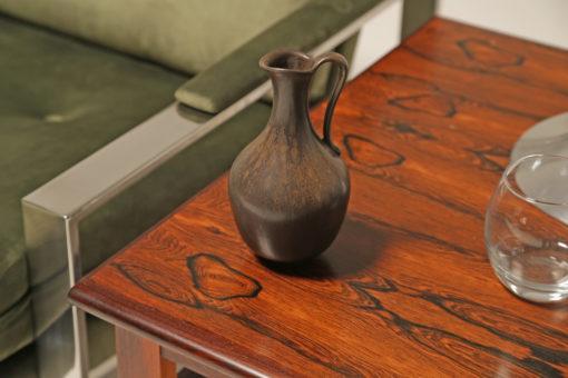 Vintage Brown Stoneware Vase by Gunnar Nylund for Rorstrand, Sweden