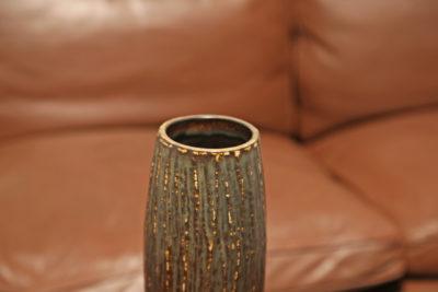 Vintage Brown Grey Stoneware 'Birka' Vase by Gunnar Nylund for Rorstrand, Sweden