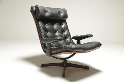 Mid-century American Walnut Swivel Chair vintage furniture for sale Dublin
