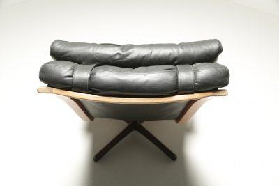 Mid-century American Walnut Swivel Chair vintage furniture warehouse Ireland