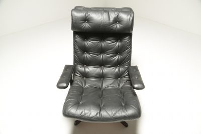 Mid-century American Walnut Swivel Chair