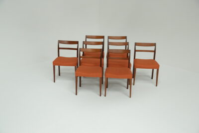 Niels Moller Teak and Leather Dining Chairs