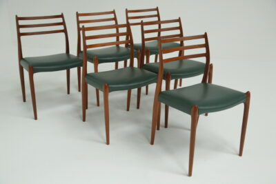 Niels Moller Teak and Leather Dining Chairs the vintage hub