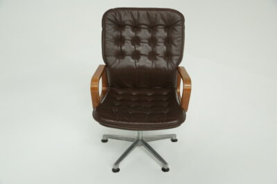 Niels Moller Teak and Leather Dining Chairs danish design