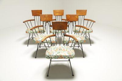 Mid-century Velvet Lounge Chair