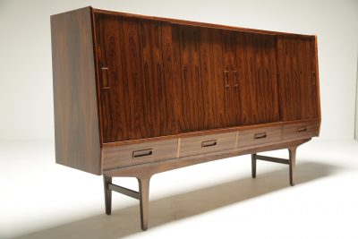 Danish Rosewood Highboard by Borge Seindal Scandinavian modern furniture