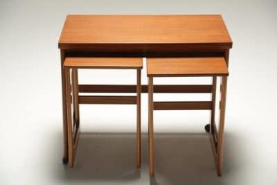 Mc Intosh Teak Triform Nest of Tables mid-century furniture dublin