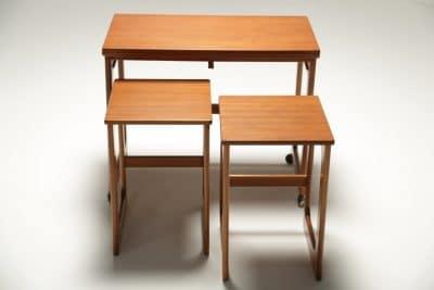 Mc Intosh Teak Triform Nest of Tables the vintage hub