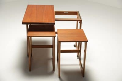 Mc Intosh Teak Triform Nest of Tables vintage furniture warehouse