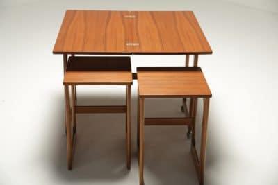 Mc Intosh Teak Triform Nest of Tables twentieth century furniture