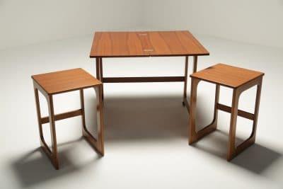 Mc Intosh Teak Triform Nest of Tables retro furniture