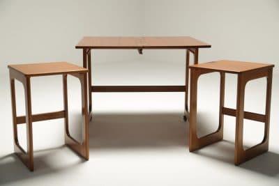Mc Intosh Teak Triform Nest of Tables teak nest