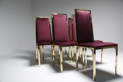 Romeo Rega Brass & Purple Dining Chairs