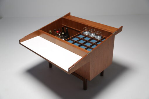 Mid-century Teak Scandinavian Bar Cabinet retro cocktail bar
