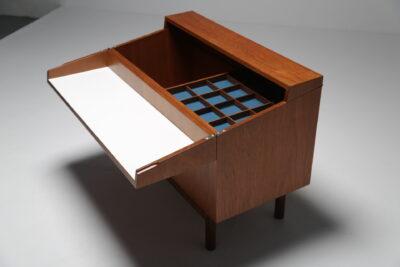 Mid-century Teak Scandinavian Bar Cabinet