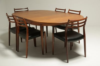 G plan Teak Oval Fresco Dining Table Niels moller chairs