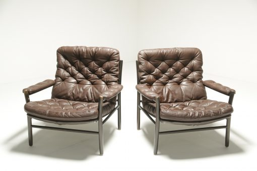 Buttoned Leather Armchairs by Dux, Sweden vintage lounge chair Dublin Ireland