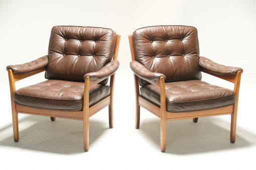 Pair of Leather Easy Chairs by Gote Mobler vintage lounge chair Dublin Ireland