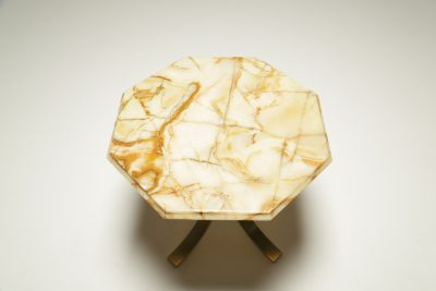 Mid-century Brass & Marble Side Table
