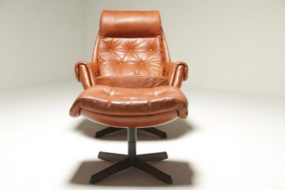 Leather Lounge Chair & Ottoman by Gote Mobler retro lounge chair Dublin