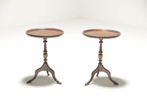 Pair of Victorian Mahogany Wine Tables antique wine tables