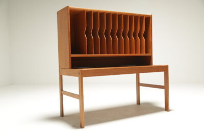mid-century vinyl media unit