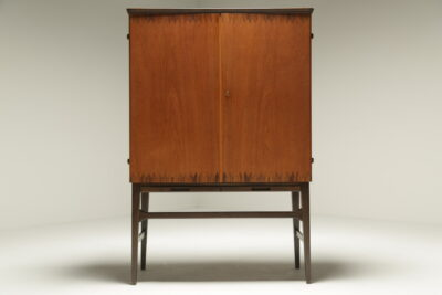 Swedish Bar Cabinet with Inlay