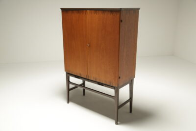 Swedish Bar Cabinet with Inlay vintage cocktail bar