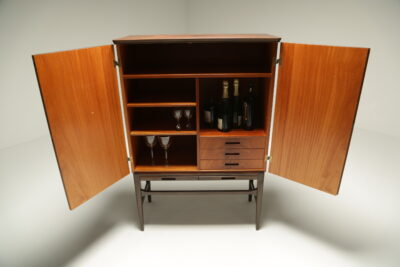Exquisite Swedish Bar Cabinet with Inlay