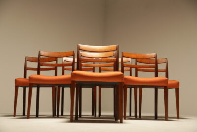 "Nils Jonsson ""Garmi"" Teak Dining Chairs by Troeds, Set of 8"