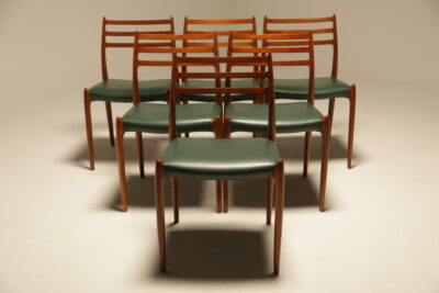 Niels Moller Teak Model 78 Dining Chairs the vintage hub