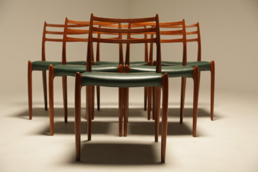 Niels Moller Teak Model 78 Dining Chairs vintage Danish dining chairs