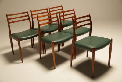 Niels Moller Teak Model 78 Dining Chairs