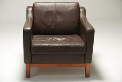 Danish Brown Leather Club Chair retro leather armchair dublin