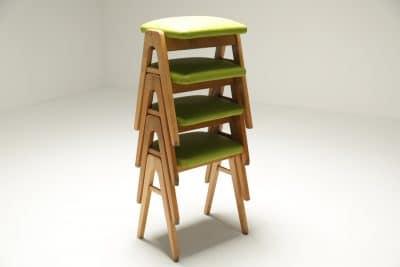 Set of 4 Stacking Stools Ben style retro stools