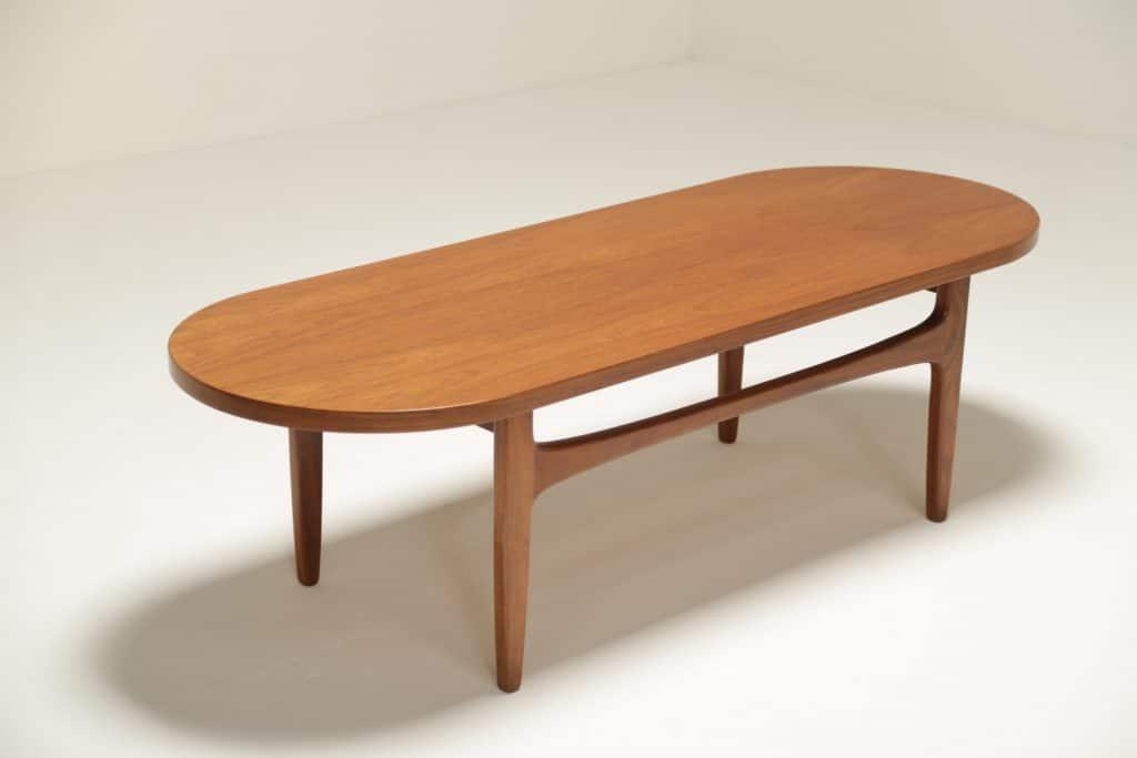 Danish Teak Racetrack Coffee Table vintage furniture Dublin Ireland
