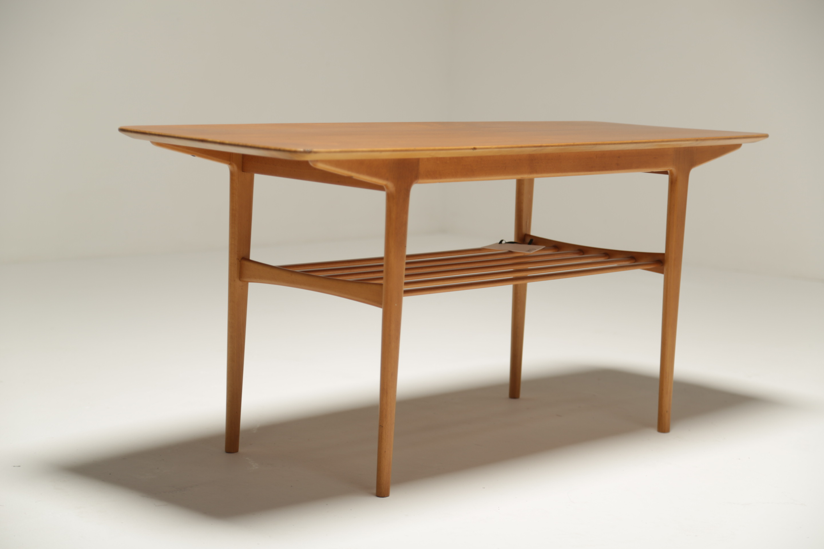 Teak Coffee Table with Magazine Rack. Fully restored ...