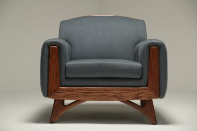Walnut Frame Armchair by Kroehler mid-century furniture Dublin Ireland