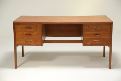 Danish Teak Bookcase Front Desk the vintage hub