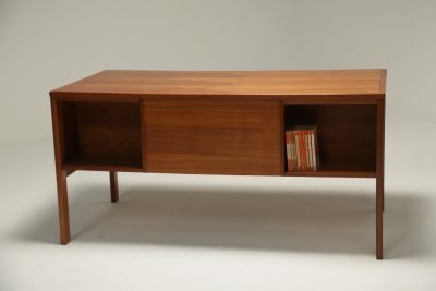 Danish Teak Bookcase Front Desk