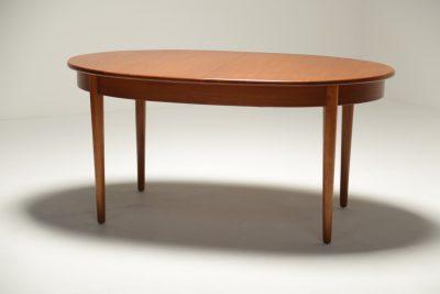 Vintage Teak Oval Dining Table