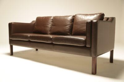 Borge Mogensen Style Danish 3 Seat Sofa the vintage hub